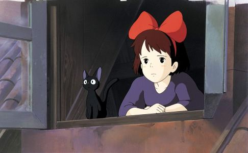 kiki and cat